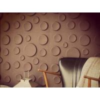Coloured Fiber 3D Wall Panels , 50CM × 50CM  Embossed Wallpaper Manufactures