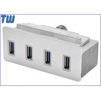 Clamp Design Full Metal 4 Ports USB 3.0 Hub with extra Usb 3.0 Cable Manufactures