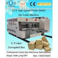 Multi Color Flexo Printer Slotter Machine Corrugated Carton Box Packing Line Manufactures