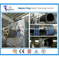 China HDPE Large Diameter Hollow Wall Winding Pipe Manufacturing Machine / Extrusion Line wholesale