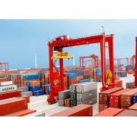 China Loading And Unloading Container Lifting Crane , RMG Rail Mounted Gantry Crane wholesale
