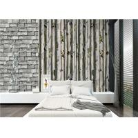 Grey birch tree home 3d wallpaper / no toxic Living Room Wallpaper Heat insulation Manufactures