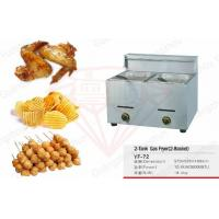 China Counter Top Restaurant Deep Fryer With 2 Basket , Commercial Gas Fryer on sale