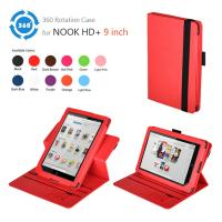 China HD 9 PC Nook Leather Case , 360° Rotary Tablet Ereader Covers And Cases on sale