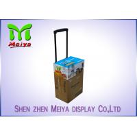 China Recyclable Corrugated Exhibition Trolley / Advertising Cardboard Box With Wheels wholesale
