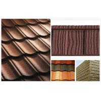 Flat Shake Aluminum Stone Chip Coated Steel Roof Tiles For Mansion / building outdoor Manufactures