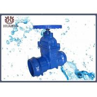 Socked connection resilient seated gate valve for PVC pipe handwheel operation