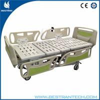 Steel 4-Part Fully Electric Medical Hospital Beds With Big Side Rails Manufactures