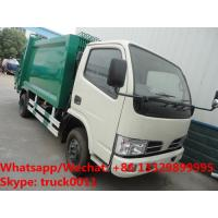 Buy cheap HOT SALE! exported model- Dongfeng RHD 4*2 5m3 small garbage compactor truck, refuse garbage truck from wholesalers