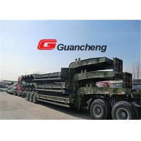 Heavy equipment Low Bed Semi Trailer with hydraulic System 70T Loading Capacity Manufactures