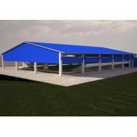 Long Span Steel Frame Structures Storage Shed With Aluminum Alloy Window ISO CE Manufactures