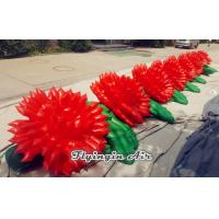 Quality Red Inflatable Flower Chain with Giant Flowers for Wedding and Event Decoration for sale