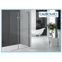 China Bi Folding Pivot Hinge Shower Door Glass , Hinged Shower Door Semi Frameless on sale