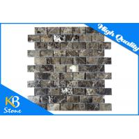 Buy cheap Dark Emperador Stone Marble Tiles Polished Subway Mosaic Wall or Flooring Tile Sheet from wholesalers