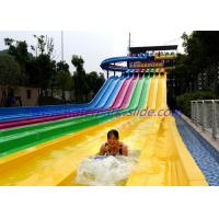 China Long Competition Huge Fiberglass Water Slides with 4 Lane / 6 Lane / Multi Lane wholesale