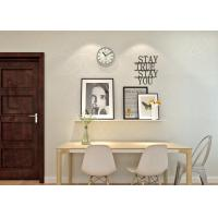 Quality Beige Non Woven Paper Interior Room Wallpaper For Bedroom / Living Room for sale