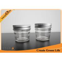 4oz Little Eco Mason Glass Jars With Metal Screwing Lid , Glass Canning Jar Wholesale Manufactures