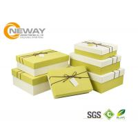 China Square Rigid Cardboard Delivery Flower Gift Box With Beautiful Ribbon For Wedding on sale