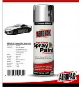 Chemicals Chrome Spray PaintShock Resistance For Glass / ABS Plastics