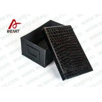 China Comestic Products Storage Large Black Cardboard Boxes With Lids For Gifts on sale