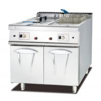 China Commercial Gas Deep Fryer With Cabinet Western Kitchen Equipment Chips Fryer on sale