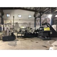Plastic Recycling Single Screw Extrusion Line With Water Ring Pelletizing System