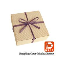 Biodegradable Corrugated Cardboard Boxes , Delicate Ribbon Tie Chocolate Packaging Boxes Manufactures