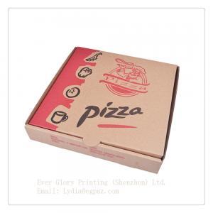 China Flip packing box corrugated pizza packing box lunch packing box renovate packing box on sale