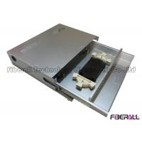 China Aluminum Fiber Optic Patch Panel Rack Mounted Grey 4 Entry Ports Dust Proof on sale