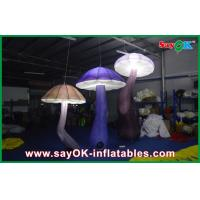 China Attractive 3m Inflatable Mushroom LED Lighting 190T Nylon For Engagement on sale