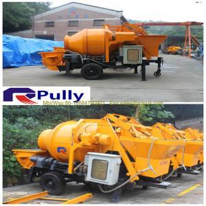 China Pully JBT40-P1 diesel engine concrete mixer, concrete mixer for sale, portable concrete mixer and pump on sale