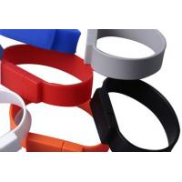 China Silicone Bracelet USB Flash Drive, 128MB to 64GB, High Speed on sale