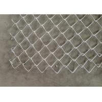 Iron Flexible Galvanized Chain Link Fence PVC Coated For Construction