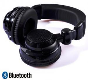 Black headset Loud and powerful bass noise cancel Wireless Stereo Bluetooth headphone