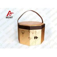 Long Handled Decorative Gable Boxes , Christmas Cardboard Boxes With Lids ODM Manufactures