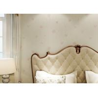 PVC European Style Rustic Floral Wall Coverings / Contemporary Wallpaper For Home Manufactures