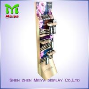 Makeup Display Stand , Cardboard Pop Up Cosmetics Eyebrow Pencil Display Racks Manufactures