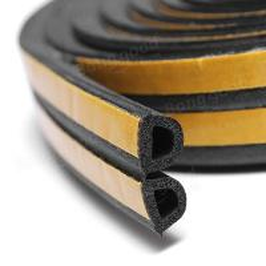 Buy cheap sponge EPDM foam rubber sealing strip self adhesive backing car door window trim seals from wholesalers