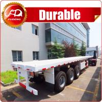 Cheap 3 axle 40ft or 20ft used trailer container flatbed truck trailer and semi trailer container for sale Manufactures