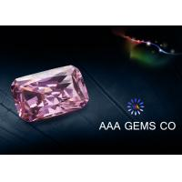 Buy cheap Custom Pink Moissanite Loose Stones Radiant Cutting 5mm x 7mm from wholesalers