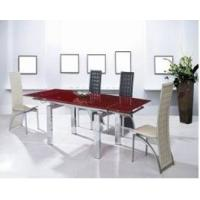 China Modern Dining Room Furniture Small Order extending glass dining table on sale