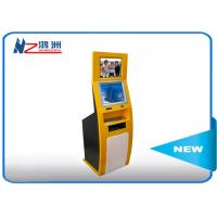 China PC Built In Touch Screen Information Kiosk For Business Center , Yellow Blue on sale