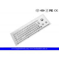 Rugged Waterproof Industrial Computer Keyboard In Metal With Integrated Trackball Manufactures