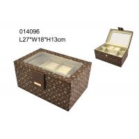 Professional Vintage Leather Jewelry Box , Brown Leather Jewellery Box Manufactures