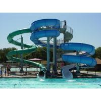 customized adult fiberglass Spiral Water Slide ,awesome big 75m Body slides Manufactures