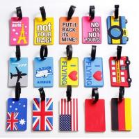 China Custom funny cheap printed pvc travel leather luggage tag for wholesale wholesale