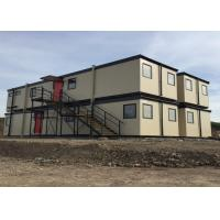 Modular Flat Pack Modified Container House With Ladders Two Storey Building With Windows Manufactures
