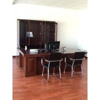 China Solid Wood Commercial Office Furniture Walnut Office Desk Environmental on sale