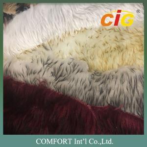 Tip Dyeing Faux Fur Fabric Artificial Faux Fur Imitation Fake Fur Fabric Manufactures
