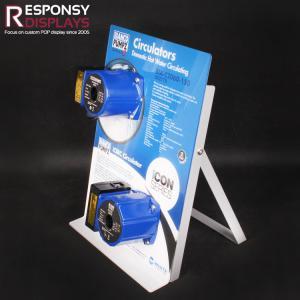 China Mini Metal & PVC Plate Pump Display Counter Stand on sale